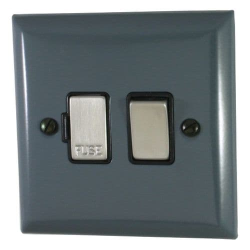 G&H SDG357 Spectrum Plate Dark Grey 1 Gang Fused Spur 13A Switched